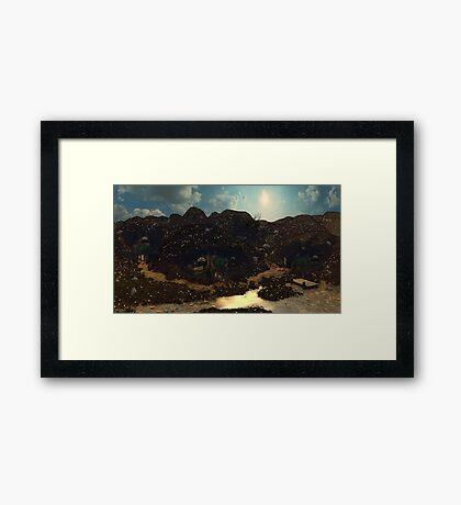 Halfling Village Framed Print