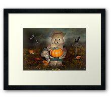 Pumpkin Thief Framed Print