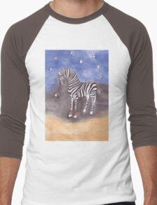 Christmas zebra vector Men's Baseball ¾ T-Shirt