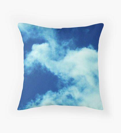 cloud watching Throw Pillow