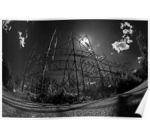 Abandoned Roller Coaster Poster
