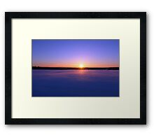 Canada Sunset Framed Print