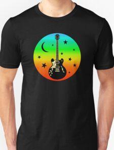 Colorful Guitar,Moon,Stars Unisex T-Shirt