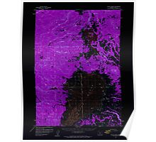 USGS Topo Map Oregon Sycan Marsh 282939 1960 62500 Inverted Poster