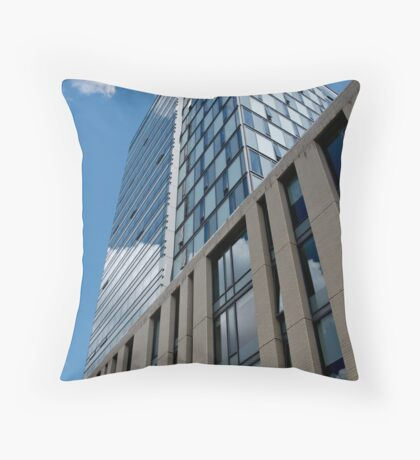 City Buildings Touching the Clouds Throw Pillow