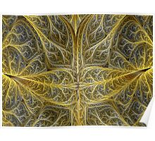 Fractal Croton Leaves Poster