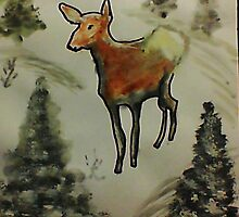 First season  on my own!  watercolor by Anna  Lewis, blind artist