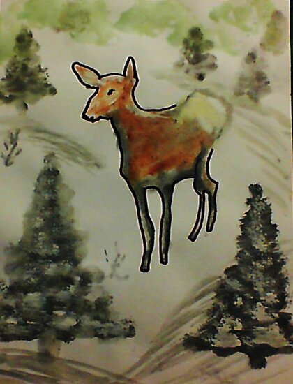 First season  on my own!  watercolor by Anna  Lewis