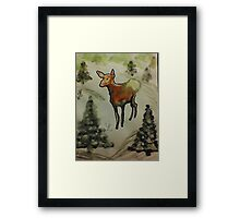 First season  on my own!  watercolor Framed Print