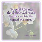 Duty of the Artist by Glennis  Siverson