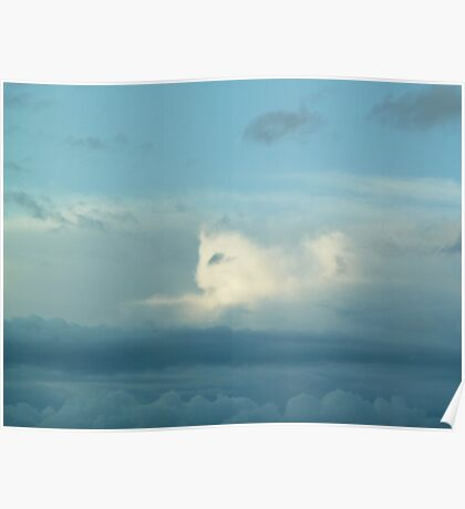 Cat in the Clouds Poster