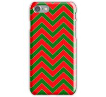 Christmas Red & Green Chevron iPhone Case/Skin