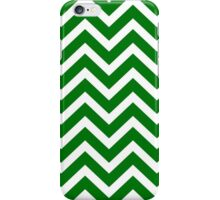 Christmas Green & White Chevron iPhone Case/Skin