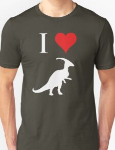 I Love Dinosaurs - Parasaurolophus (white design) T-Shirt