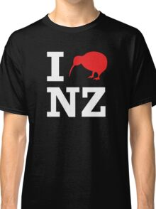I Love New Zealand (Kiwi) white design Classic T-Shirt