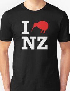 I Love New Zealand (Kiwi) white design Unisex T-Shirt