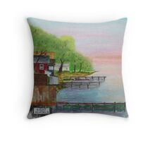 Resort Row Throw Pillow