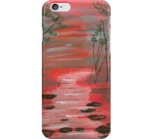River flowing through the trees iPhone Case/Skin