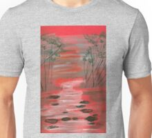 River flowing through the trees Unisex T-Shirt