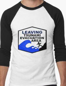 Tsunami Evacuation Area shirt from Hawaii Men's Baseball ¾ T-Shirt
