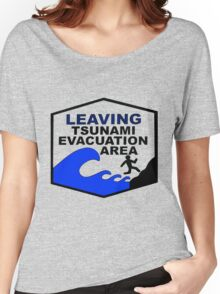 Tsunami Evacuation Area shirt from Hawaii Women's Relaxed Fit T-Shirt