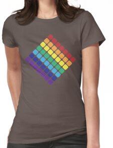 Rainbow Diamond Womens Fitted T-Shirt