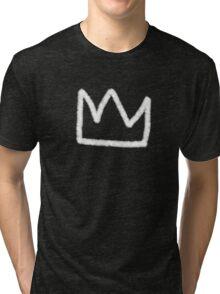 Crown in white Tri-blend T-Shirt