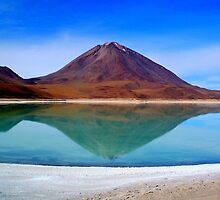 Volcano Reflection - Laguna Verde by Honor Kyne