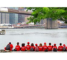 Summer Camp lunch line-up - NYC Photographic Print