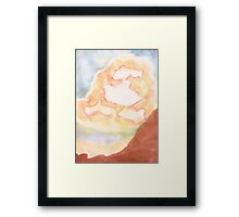 Ghost Busting ,Clouds, watercolor Framed Print