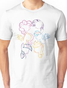 Main 6 Group Outline Unisex T-Shirt