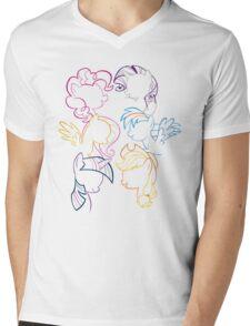 Main 6 Group Outline Mens V-Neck T-Shirt