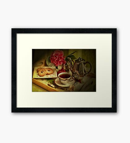 Morning Coffee on a Winter's Day Framed Print