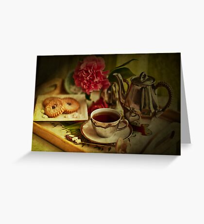 Morning Coffee on a Winter's Day Greeting Card