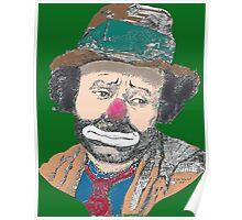 Sad Clown Emmet Kelly Poster