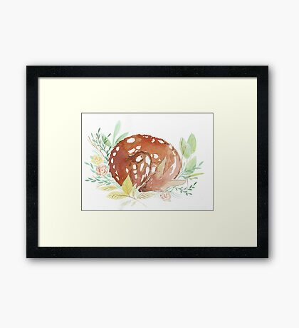 sleeping fawn Framed Print