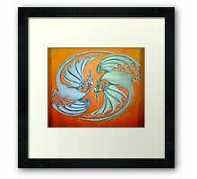 Twin Dragons  Framed Print