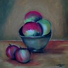 Clay Bowl of Fruit by Mitch Adams