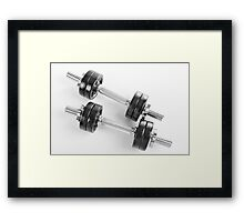 Chrome hand barbells weights  Framed Print