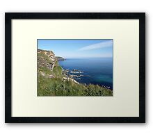 Hells Mouth in Cornwall Framed Print