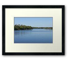 Solitude - Port St Lucie River Framed Print