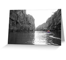 Canoeing Katherine Gorge - Darwin Greeting Card