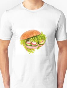 sandwich of graham roll with vegetables T-Shirt