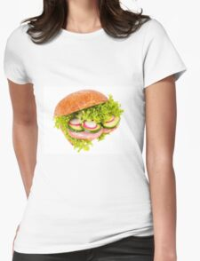 sandwich of graham roll with vegetables Womens Fitted T-Shirt
