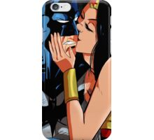 Batman Wonder Woman kissing iPhone Case/Skin