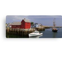 Rockport Harbor Panorama Canvas Print