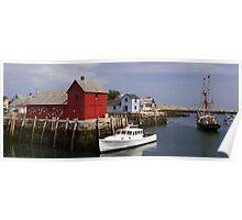 Rockport Harbor Panorama Poster