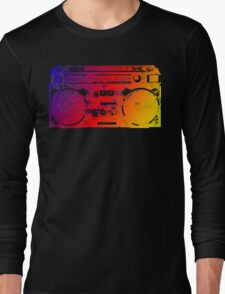Old School Boombox Long Sleeve T-Shirt