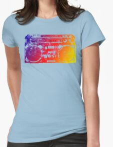 Old School Boombox Womens Fitted T-Shirt