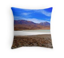 Volcanic Landscape - Uyuni National Park Throw Pillow